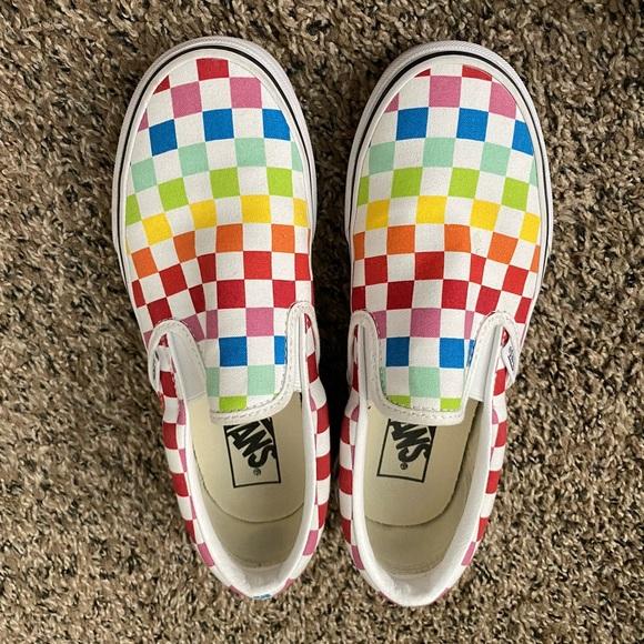 Vans checkered board shoes, women's.